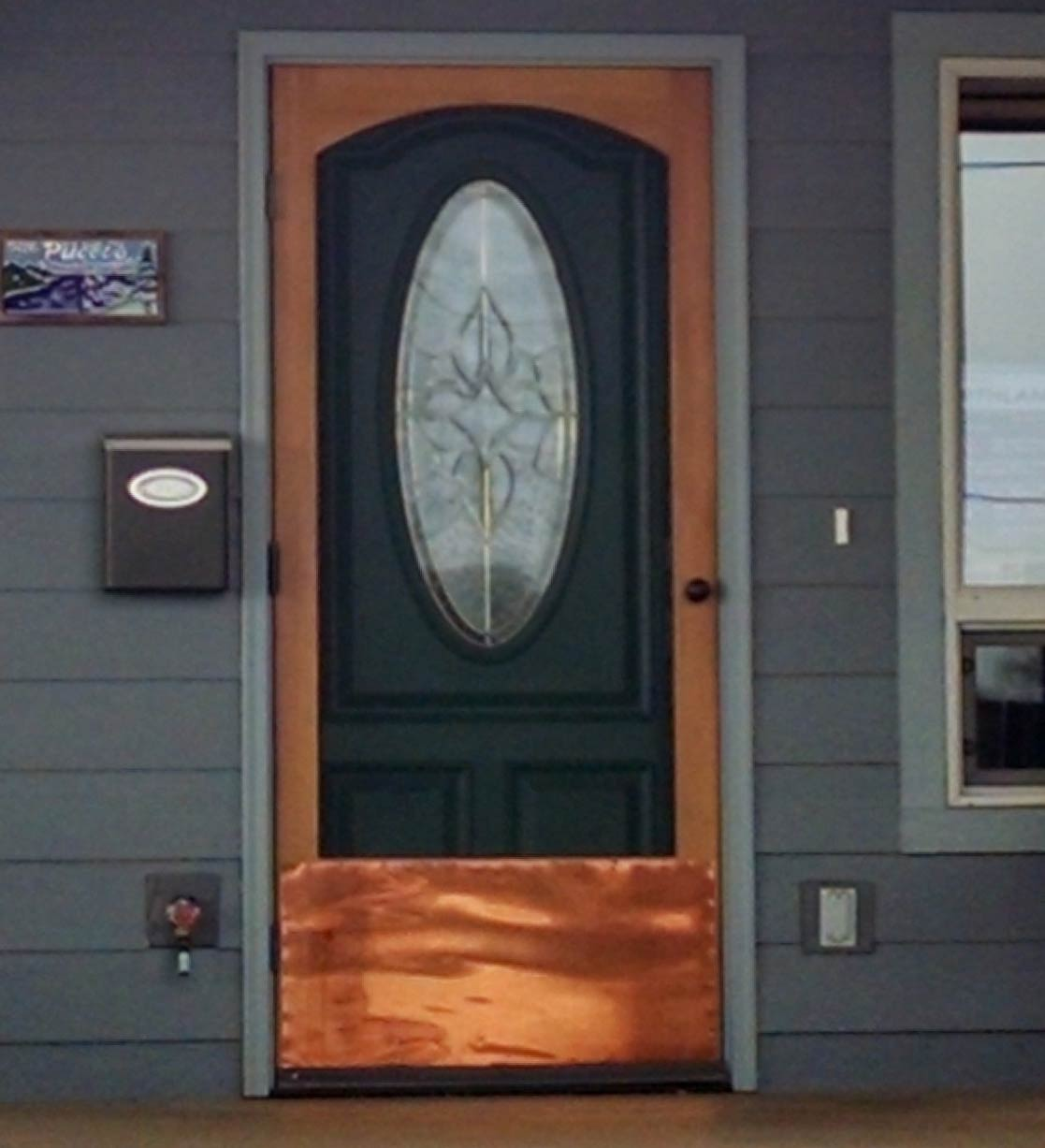 Copper Kick Plate - Mountain View Woodworks